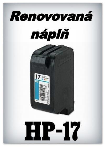 Náplnì do tiskáren HP-17 XL (renovované)