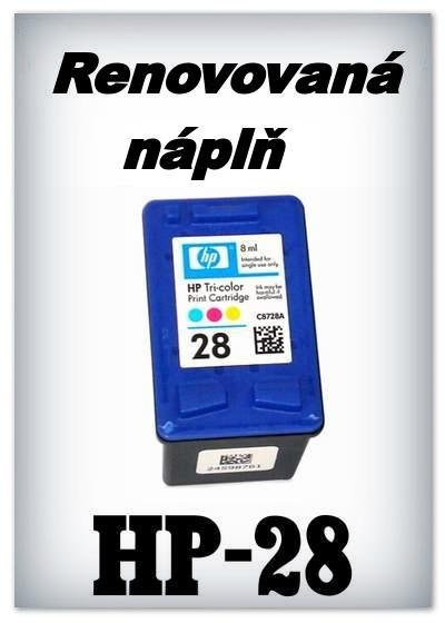 Náplnì do tiskáren HP-28 XL (renovované)