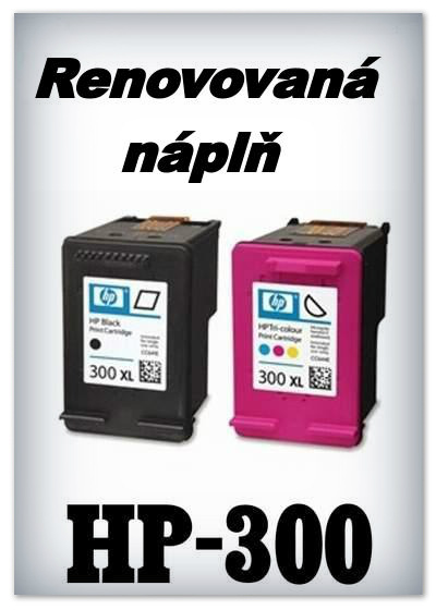 Náplnì do tiskáren HP-300 XL - black a HP-300 XL - color (renovované)