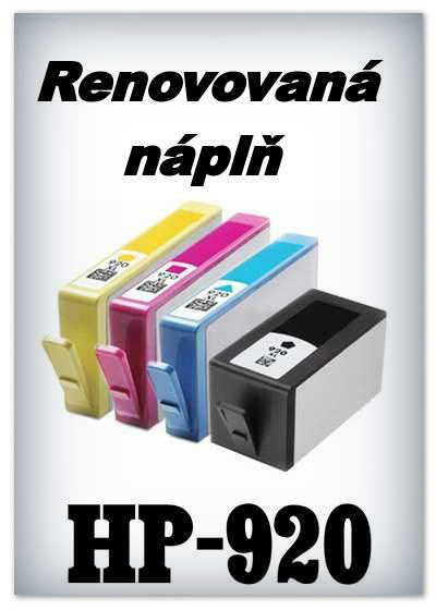 Náplnì do tiskáren HP-920 XL (renovované)