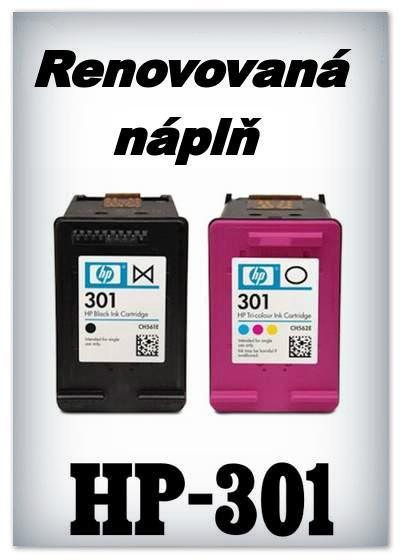 Náplnì do tiskáren HP-301 XL (renovované)