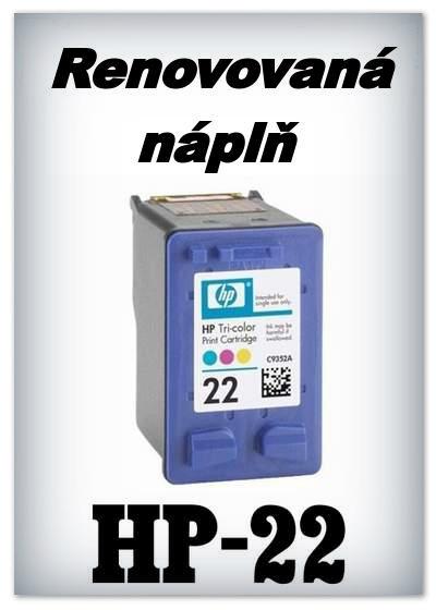 Náplnì do tiskáren HP-22 XL (renovované)