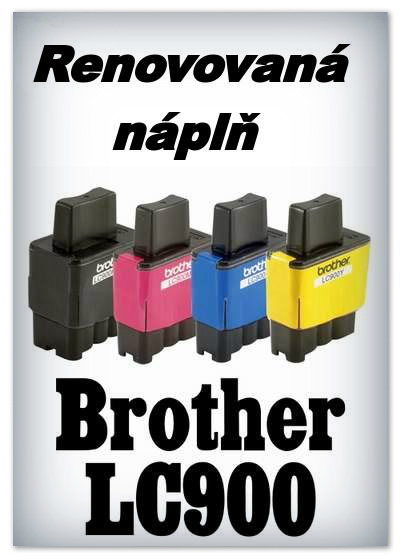 Náplnì do tiskáren Brother LC900 (renovované)