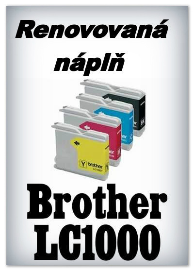 Náplnì do tiskáren Brother LC1000 (renovované)