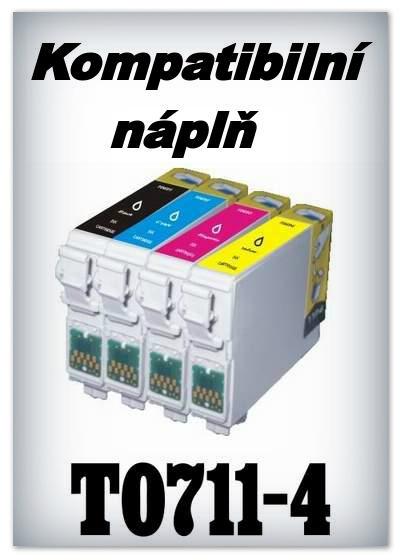 Náplnì do tiskáren Epson T0711, T0712, T0713, T0714 (kompatibilní)