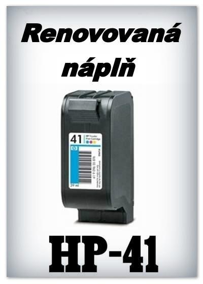Náplnì do tiskáren HP-41 (renovované)