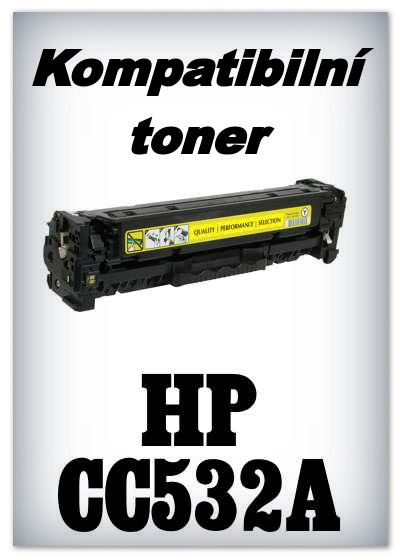 Kompatibilní toner HP 304A / HP CC532A