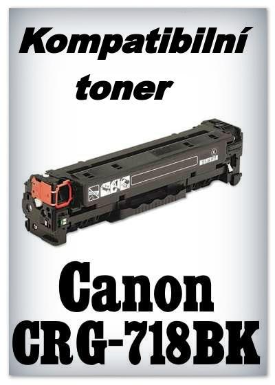 Kompatibilní toner Canon CRG-718BK