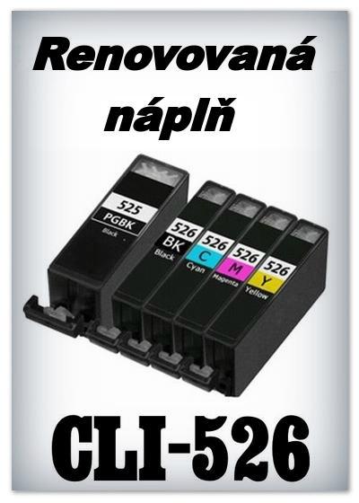 Náplnì do tiskáren Canon PGI-525 a CLI-526 (renovované)