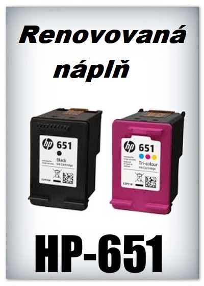 Náplnì do tiskáren HP-651 XL (renovované)
