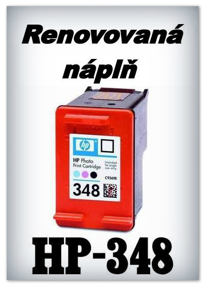 Náplně do tiskárny HP-348 XL - SADA 3 náplní - renovované