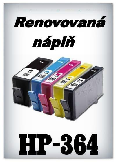 SuperNakup - Náplně do tiskáren HP-364 XL - SADA 5 náplní - renovované