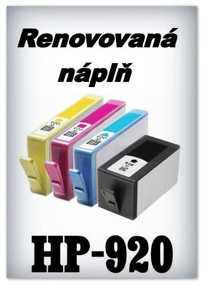 Náplně do tiskárny HP-920 XL - SADA 4 náplní - renovované