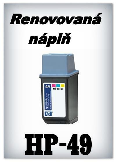 SuperNakup - Náplně do tiskáren HP-49 - color - SADA 3 náplní - renovované