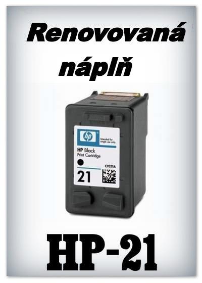 SuperNakup - Náplně do tiskáren HP-21 XL - black - SADA 3 náplní - renovované