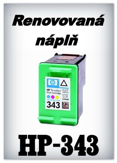 SuperNakup - Náplně do tiskáren HP-343 XL - color - SADA 3 náplní - renovované
