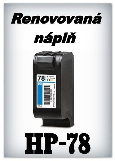 SuperNakup - Náplně do tiskáren HP-78 - color - SADA 3 náplní - renovované