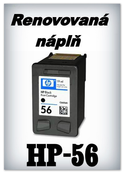 SuperNakup - Náplně do tiskáren HP-56 XL - black - SADA 3 náplní - renovované