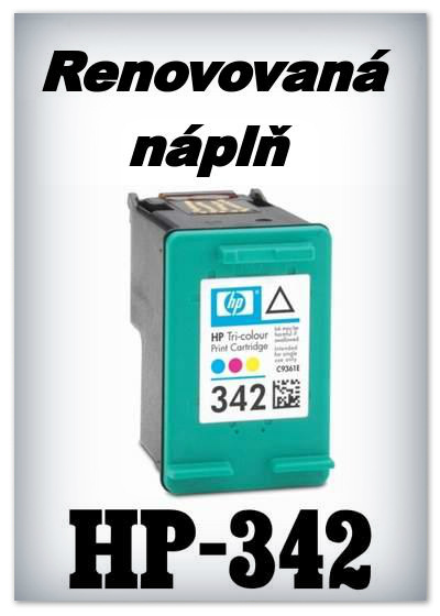 Náplně do tiskárny HP-342 XL - SADA 3 náplní - renovované