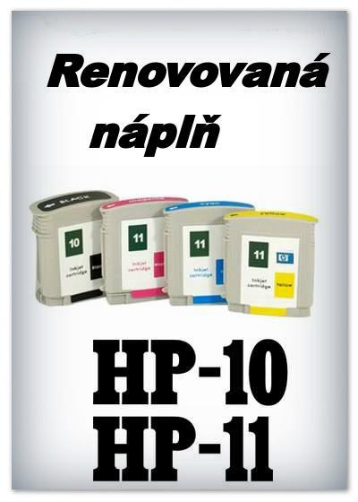 Náplně do tiskárny HP-10 + HP-11 - SADA 4 náplní - renovované