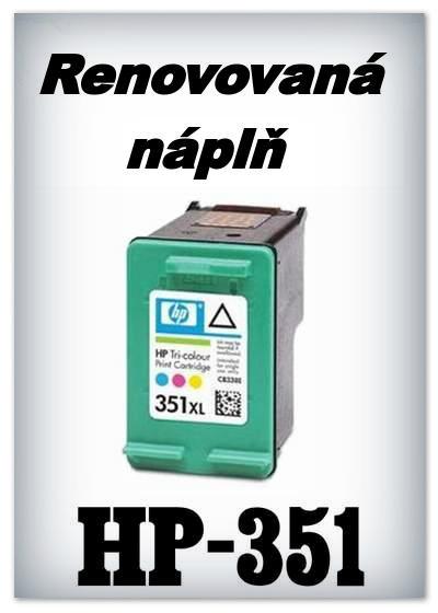 SuperNakup - Náplně do tiskáren HP-351 XL - color - SADA 3 náplní - renovované