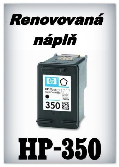 SuperNakup - Náplně do tiskáren HP-350 XL - black - SADA 3 náplní - renovované