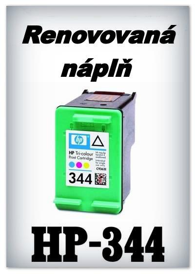 Náplně do tiskárny HP-344 - MEGA SADA 10 náplní - renovované
