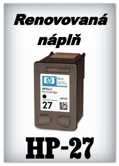 SuperNakup - Náplně do tiskáren HP-27 XL - black - SADA 3 náplní - renovované