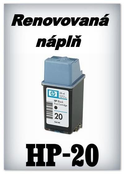 SuperNakup - Náplně do tiskáren HP-20 - black - SADA 3 náplní - renovované