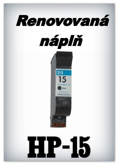 SuperNakup - Náplně do tiskáren HP-15 XL - black - SADA 3 náplní - renovované