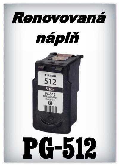 SuperNakup - Náplně do tiskáren Canon - PG-512 XL - black - SADA 3 náplní - renovované