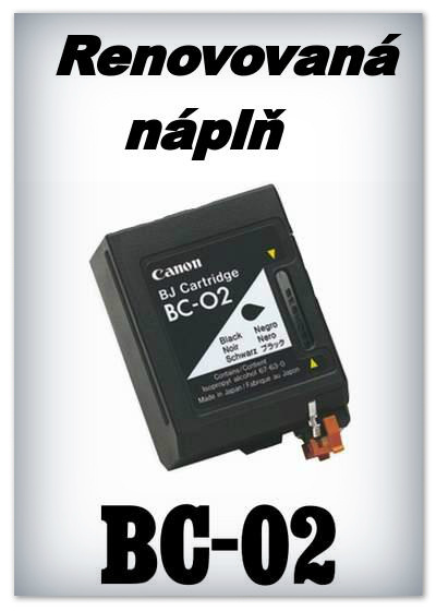 SuperNakup - Náplň do tiskárny Canon BC-02 - black - renovovaná