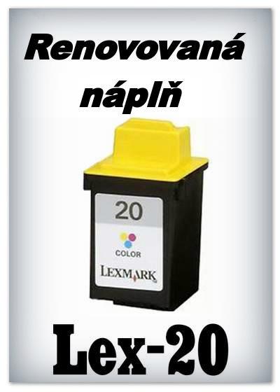 SuperNakup - Náplně do tiskáren - Lexmark 20 - color - SADA 3 náplní - renovované