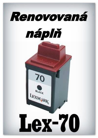 SuperNakup - Náplně do tiskáren Lexmark 70 - black - SADA 3 náplní - renovované