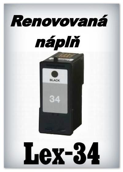 Lexmark 18C0034 - Náplň do tiskárny Lexmark 34 - black - renovované
