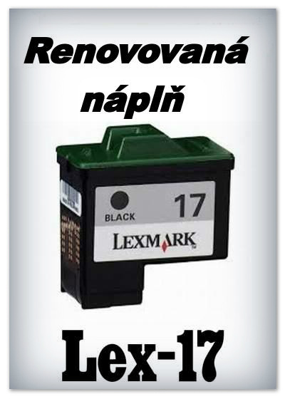 SuperNakup - Náplně do tiskáren Lexmark 17 - black - SADA 3 náplní - renovované