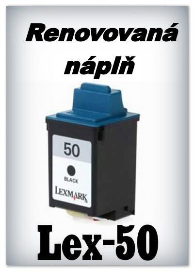 SuperNakup - Náplně do tiskáren Lexmark 50 - black - SADA 3 náplní - renovované