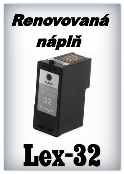 SuperNakup - Náplně do tiskáren Lexmark 32 - black - SADA 3 náplní - renovované