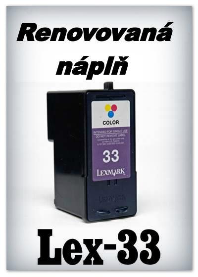 SuperNakup - Náplně do tiskáren Lexmark 33 - color - SADA 3 náplní - renovované
