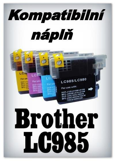 Náplň do tiskárny Brother LC985Bk - black - kompatibilní