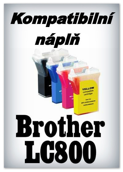 Handsome - Náplně do tiskáren Brother LC800 - SADA 4 náplní - kompatibilní