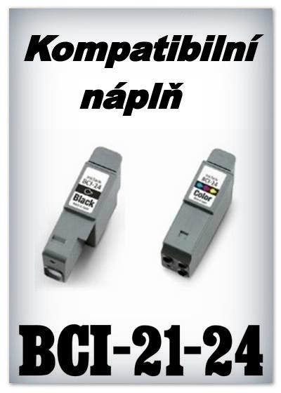 Náplně do tiskárny Canon BCI-21 (BCI-24) - SADA 2 náplní (BK+C) (komp)