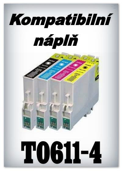 Náplně do tiskárny Epson T0611 - T0614 - SADA 4 náplní - kompatibilní