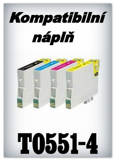 Náplně do tiskárny Epson T0551 - T0554 - SADA 4 náplní - kompatibilní