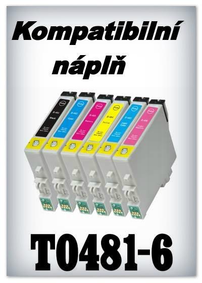 Náplně do tiskárny Epson T0481-T0486 - SADA 6 náplní - kompatibilní