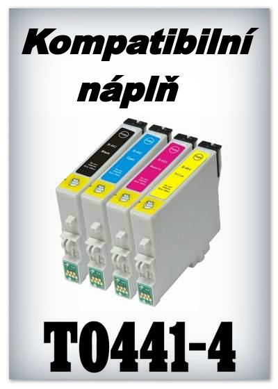 Náplně do tiskárny Epson T0441 - T044 - SADA 4 náplní - kompatibilní