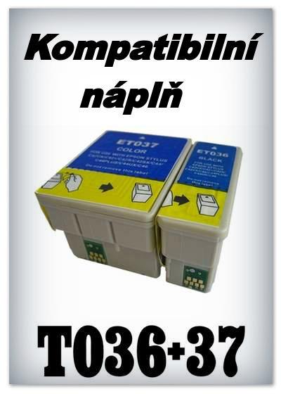 Náplně do tiskárny Epson T036 + T037 - SADA 2 náplní - kompatibilní