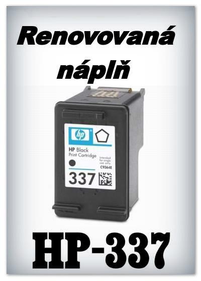 SuperNakup - Náplně do tiskáren HP-337 - black - SADA 3 náplní - renovované