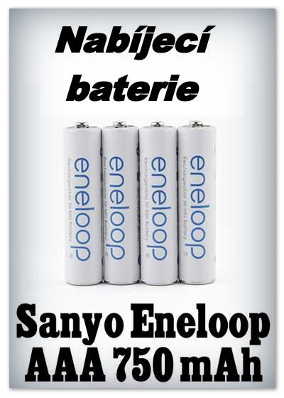 Zobrazit detail: Baterie Sanyo Eneloop AAA 750mAh (4 ks)