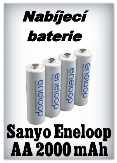 Baterie Sanyo (Panasonic) Eneloop AA 2000 mAh NiMH - 1,2V (4 ks)